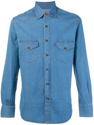 Denim shirt Canali. Цвет: синий