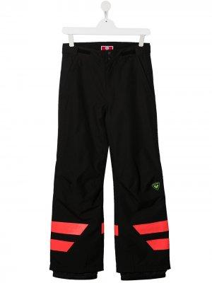 Лыжные брюки с контрастными полосками Rossignol Kids. Цвет: синий
