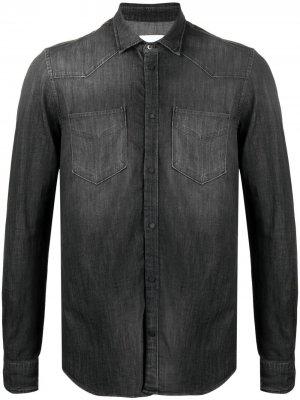 Джинсовая рубашка в стиле вестерн Dondup. Цвет: черный