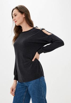 Блуза Love My Body. Цвет: серый