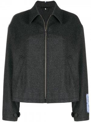 Куртка-рубашка оверсайз MCQ. Цвет: серый