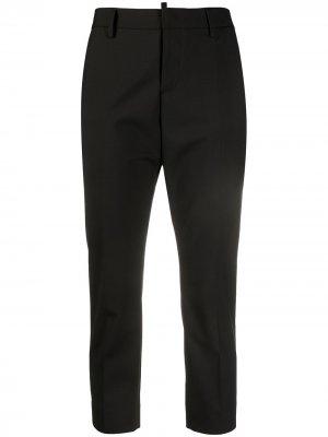 Укороченные брюки кроя слим Dsquared2. Цвет: черный