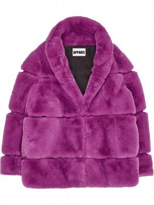 Пальто Sarah Apparis. Цвет: фиолетовый