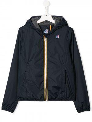 Непромокаемая куртка на молнии K Way Kids. Цвет: синий