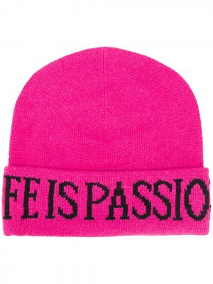 Трикотажная шапка бини Life Is Passion Alberta Ferretti. Цвет: розовый