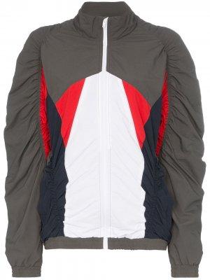 Куртка на молнии в стиле колор-блок Martine Rose. Цвет: серый
