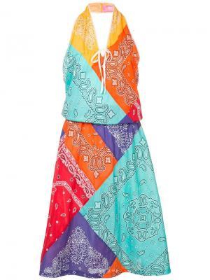 Платье без рукавов с принтом банданы Junya Watanabe Comme Des Garçons Vintage. Цвет: разноцветный