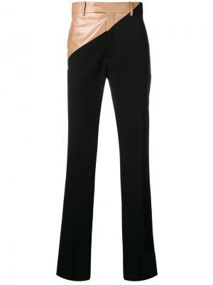 Брюки с контрастными панелями Calvin Klein 205W39nyc. Цвет: черный