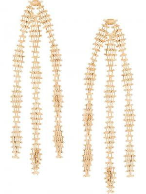 Waterfall earrings Rosantica. Цвет: металлик