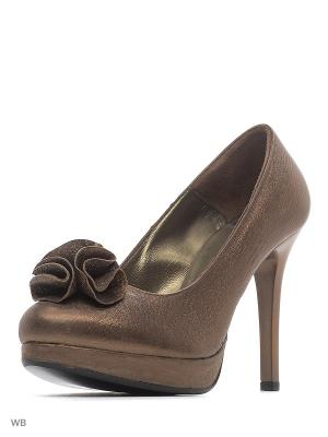 Туфли ARTY. Цвет: коричневый, золотистый