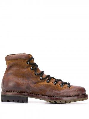 Ботинки на шнуровке Premiata. Цвет: коричневый