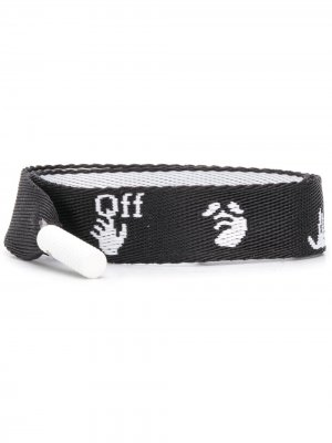 Шнурки с логотипом Off-White. Цвет: черный