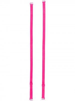 Бретели с логотипом Maison Close. Цвет: розовый