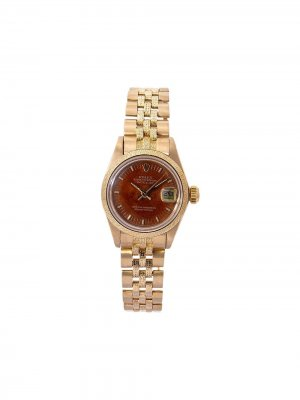 Наручные часы Datejust pre-owned 26 мм 1979-го года Rolex. Цвет: коричневый