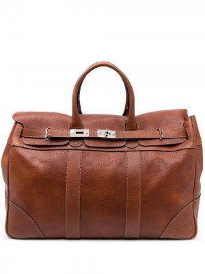 Дорожная сумка с верхней ручкой Brunello Cucinelli. Цвет: коричневый