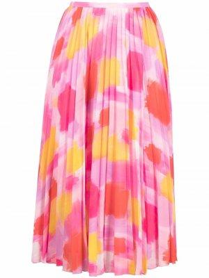 Плиссированная юбка миди Zalerie Essentiel Antwerp. Цвет: розовый