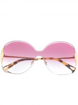 Солнцезащитные очки Curtis Chloé Eyewear. Цвет: золотистый