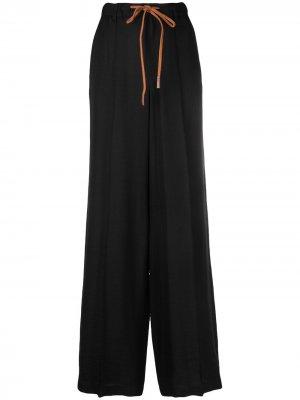 Широкие брюки с завышенной талией Alysi. Цвет: черный