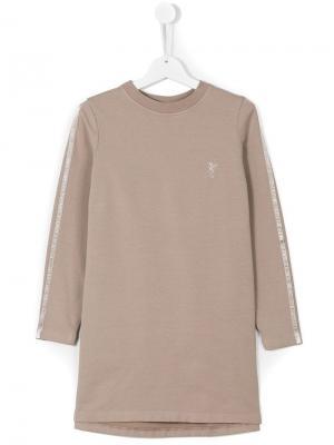 Платье-футболка с длинными рукавами European Culture Kids. Цвет: neutrals