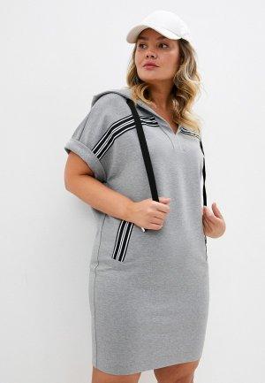 Платье Persona by Marina Rinaldi. Цвет: серый