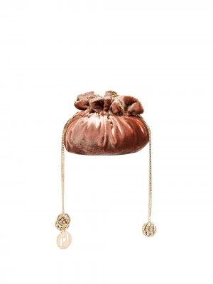 Бархатная мини-сумка Moneta Rosantica. Цвет: розовый