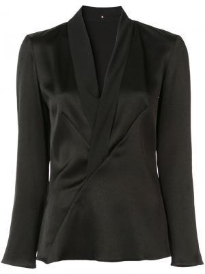 Пиджак с запахом Peter Cohen. Цвет: черный