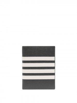 Обложка для паспорта с полосками 4-Bar Thom Browne. Цвет: серый