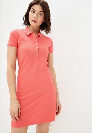 Платье Lacoste. Цвет: розовый