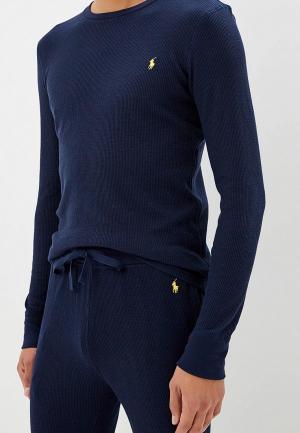 Лонгслив домашний Polo Ralph Lauren. Цвет: синий
