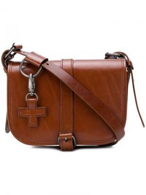 Cross tag shoulder bag A.F.Vandevorst. Цвет: коричневый