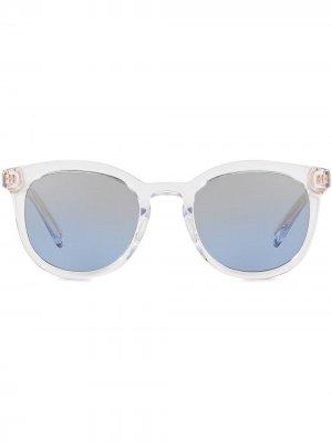 Солнцезащитные очки DNA в круглой оправе Dolce & Gabbana Eyewear. Цвет: белый
