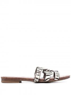 Сандалии с зебровым принтом Sam Edelman. Цвет: белый
