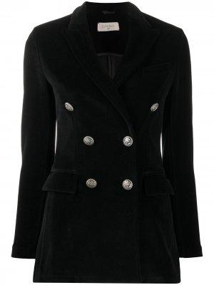 Двубортный приталенный пиджак Circolo 1901. Цвет: черный