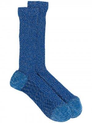 Носки с эффектом металлик Missoni. Цвет: синий
