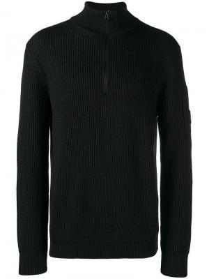 Zipped ribbed jumper CP Company. Цвет: черный