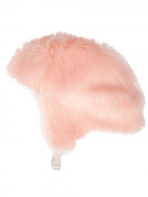 Шапка-ушанка с искусственным мехом Landlord. Цвет: розовый