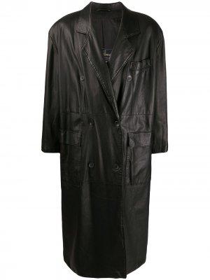Двубортное пальто 1980-х годов A.N.G.E.L.O. Vintage Cult. Цвет: черный