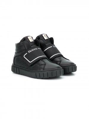 Высокие кроссовки на липучках Cesare Paciotti Kids. Цвет: черный