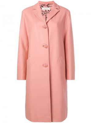 Классическое зимнее пальто Nina Ricci. Цвет: розовый