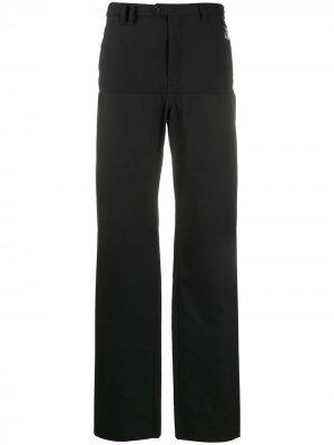 Широкие брюки с креплением для подтяжек Raf Simons. Цвет: черный