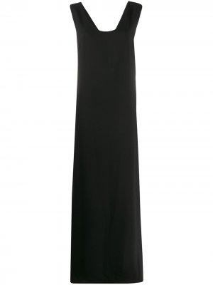 Платье-трапеция с U-образным вырезом P.A.R.O.S.H.. Цвет: черный