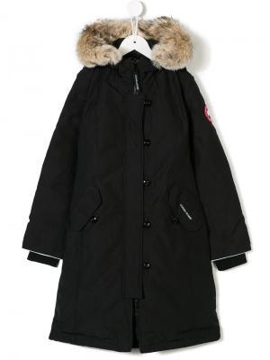 Дутое пальто Canada Goose Kids. Цвет: черный