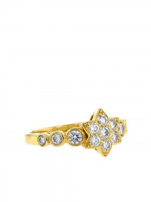 Кольцо 2000-х годов из желтого золота с бриллиантами Van Cleef & Arpels. Цвет: золотистый