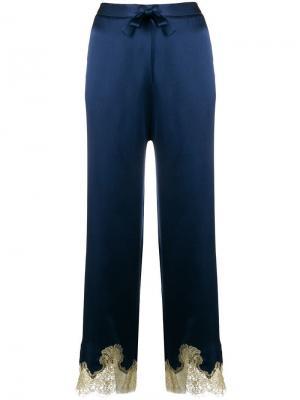 Брюки Gina в пижамном стиле Gilda & Pearl. Цвет: синий