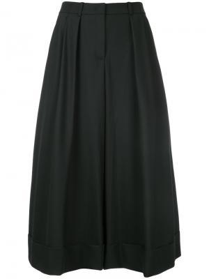 Плиссированная юбка миди Jil Sander Navy. Цвет: черный
