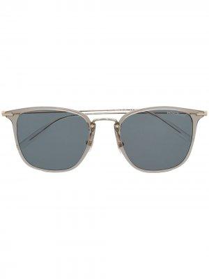 Солнцезащитные очки в квадратной оправе Montblanc. Цвет: серый