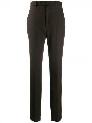 Зауженные брюки строгого кроя Bottega Veneta. Цвет: коричневый