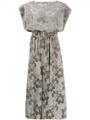 Платье 1996-го года с жаккардовым цветочным узором Comme Des Garçons Pre-Owned. Цвет: серый