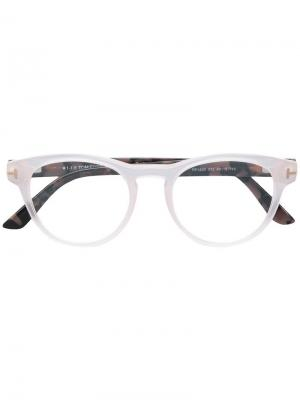 Contrast square glasses Tom Ford Eyewear. Цвет: розовый