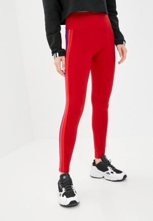 Леггинсы adidas Originals. Цвет: красный